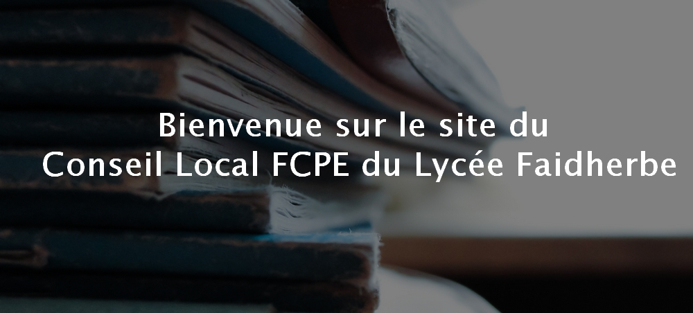 Bienvenue sur le site FCPE Faidherbe